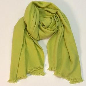 BARNEY'S NEW YORK Green Oversized Cashmere Scarf